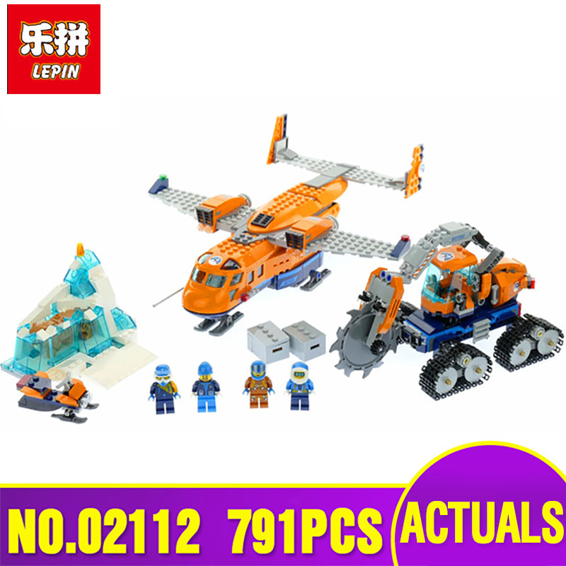 Lepin 02112 Model 791Pcs City Series The Legoing 60196 Arctic Supply Plane Set Building Blocks Bricks Funny Plane Toys as Gifts