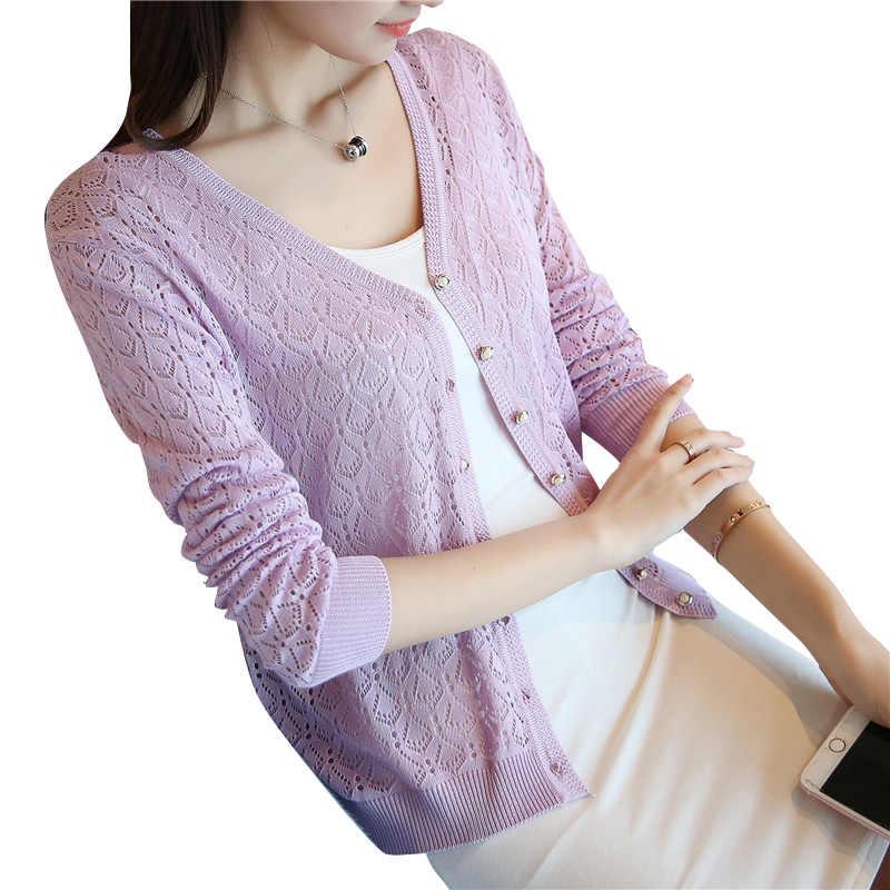 Giá đặc biệt, mỏng dệt kim áo len, áo len của phụ nữ cardigan áo khoác, 2019 mùa hè mỏng kem chống nắng, ngắn điều hòa không khí áo sơ mi.