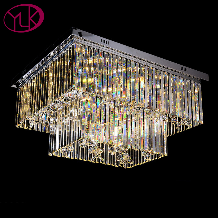 Luxury Rectangle Chandeliers crystal light for ceiling big led Lustres De Cristal For Living Room Led Crystal Lighting Fixture nordic living room crystal chandelier light luxury chandeliers light lustres de cristal for living dining room hotel decor