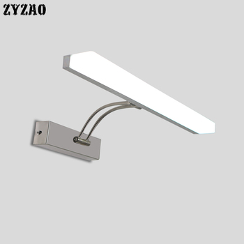 LED Mirror Headlight Bathroom Vanity Mirror Lights Cabinet Simple Mirror Lamp Bathroom Makeup Dressing Table Bathroom Led Lamps