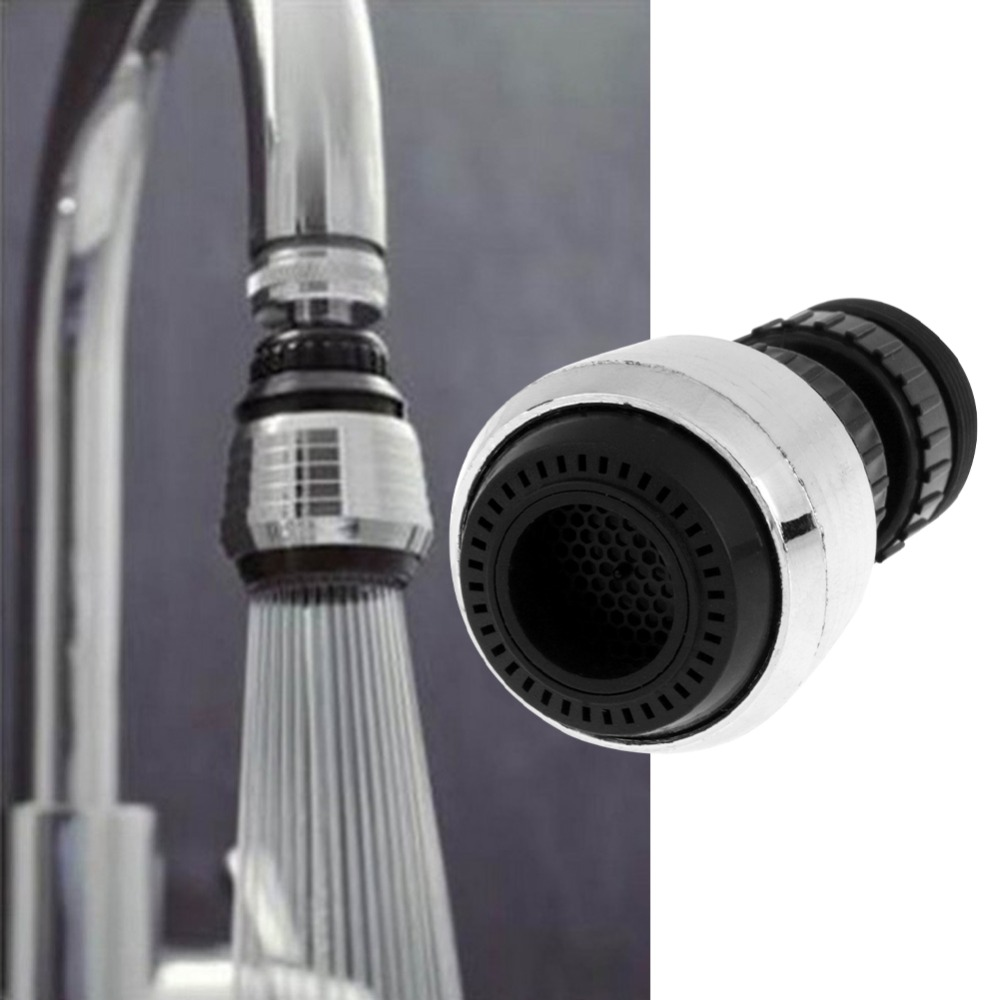 360 Rotary Kitchen And Bathroom Essential Faucet Shower Head Plastic Economizer Filter Water Stream Faucet Filter Faucet
