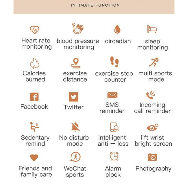 B80 Smart Watch Female Heart Rate Monitor Blood Pressure Fitness Activity Tracker Smart Bracelet Sport Fashion Ladies Watches