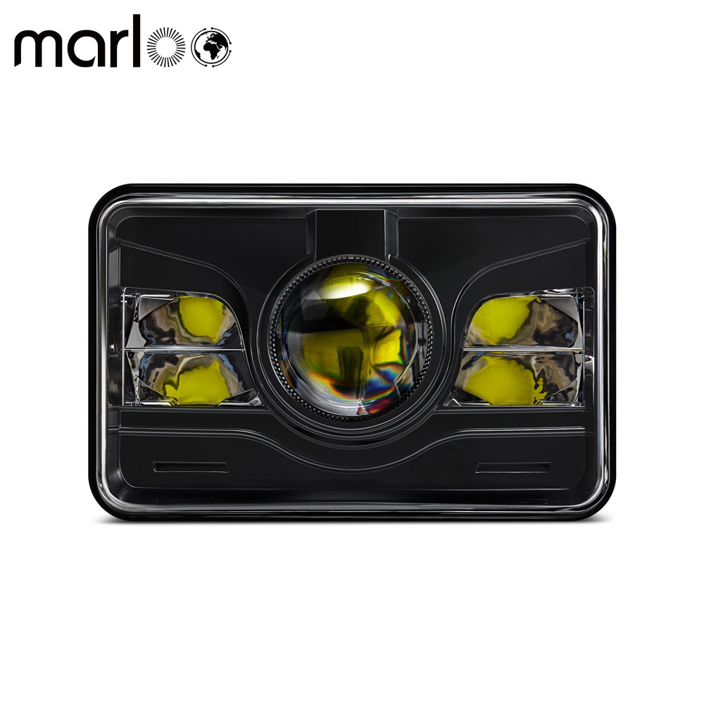 Marloo 4x6 LED Projector Headlight Sealed Beam Replacement HID Xenon H4651 H4652 H4656 H4666 H6545 (1 Lamp Only)