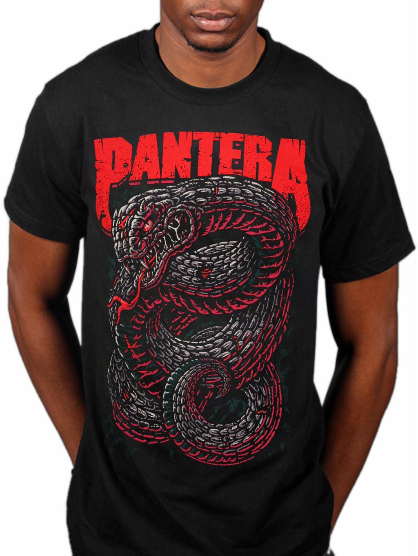 Пантера кустарниковая полынь футболка Serpente далеко за пределы мощности с приводом металло Новый 2018 Летний стиль футболка