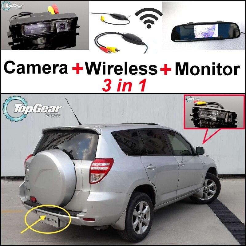 Voir les offres spéciales Arrière Caméra + Récepteur Sans Fil + Miroir Moniteur 3 en Facile DIY Système de Stationnement Pour TOYOTA RAV4 RAV-4 RAV 4