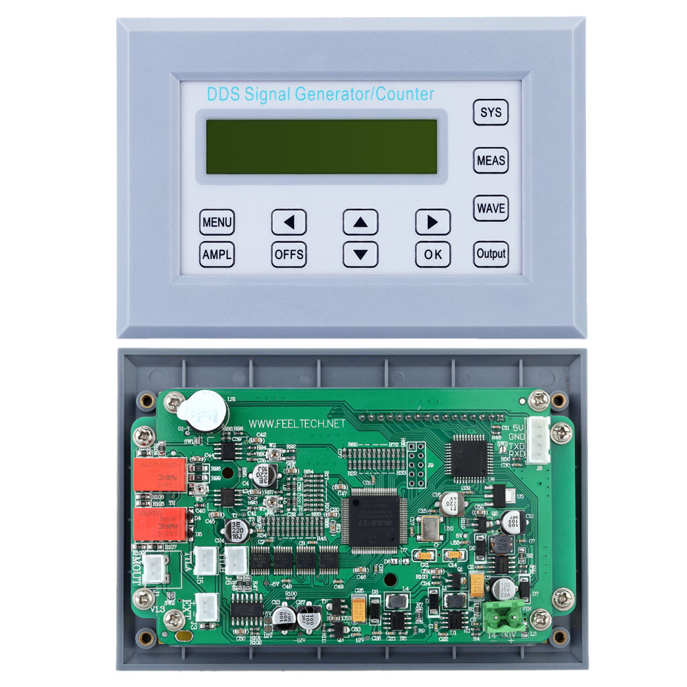 US $46 56 45% OFF|10MHZ DDS FunctionSi gnal Generator Frequency Counter  Synchronized TTL/Impulse Signal Output Square Wave Frequency Sweep Panel-in