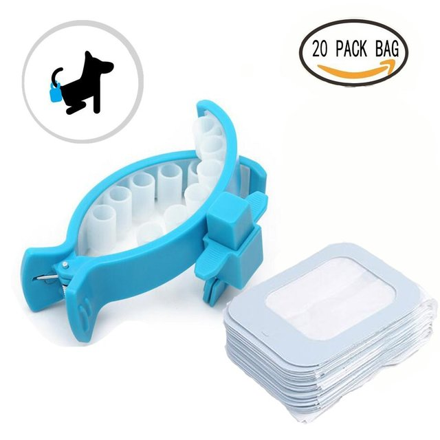 hands free dogs clip portable dog waste bags clip poop scoopers comfort sofe ring clip and - Dog Waste Bags