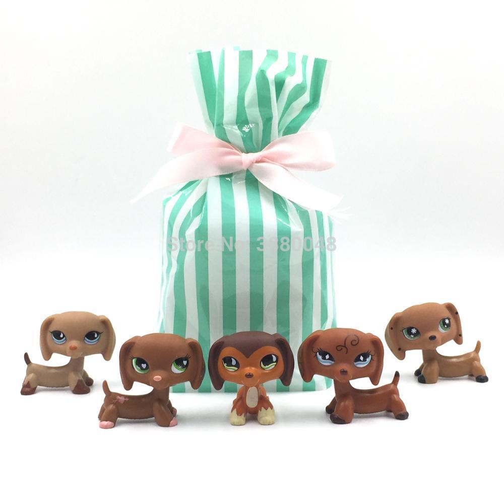5 Pcs bag Real font b pet b font shop lps toys littlest dog model rare
