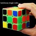 Rompecabezas Cubo mágico 3x3x3 Velocidad Cubo Cubos Mágicos Magia Juguete Luminoso De Plástico Clásico y Juguetes de Aprendizaje la educación Para los niños Regalos