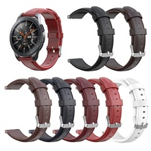 New 7 Colors Genuine Leather Watchband For Galaxy Watch Active 40MM Replacement Wrist Strap Samsung 46MM