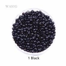 1000 шт 2,5 мм медные нано кольца Бусины для нано колец наращивание волос 1# черный цвет