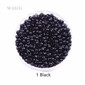 500pcs 2.5mm Copper Nano Ring Beads for Rings Hair Extensions 1# Black Color - discount item  1% OFF Hair Tools & Accessories