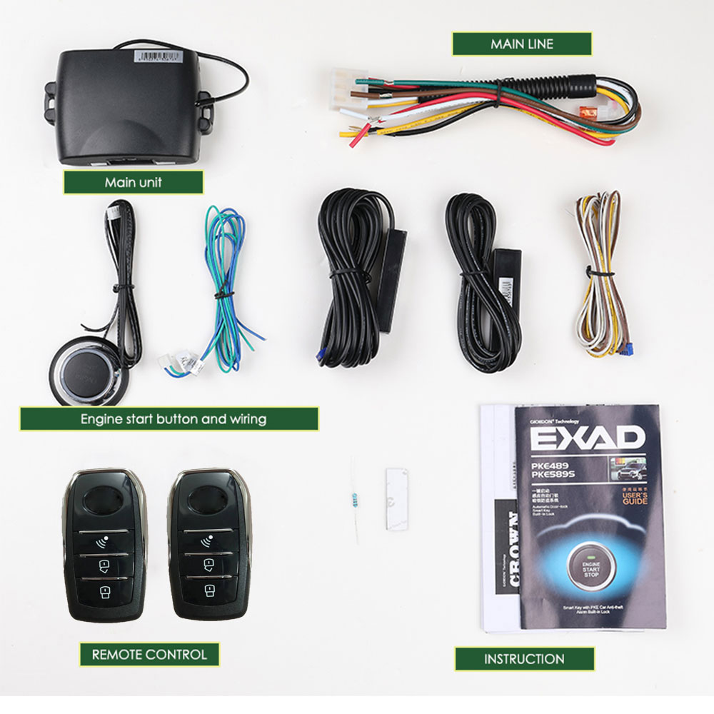 Universal car accessories Keyless Entry Comfort System PKE Android /ISO APP Phone Remote Start Car Engine Car Alarm Push 913 image