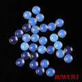 JUWEILI Jewelry 100pcs 8mm Hemispherical Natural Stone Cabochon Beads Amethyst Rose Quartz Blue Sand Opal Agate Lapis Aventurine