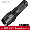 New Hot Super Bright Flashlight CREE XM-L T6 4000LM led torch T6 lantern Zoomable 5Modes Waterproof Flashlights Free Shipping