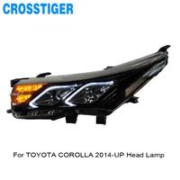 Автомобильные аксессуары светодиодная фара для Защитные чехлы для сидений, сшитые специально для Toyota Corolla 2014 2015 2016 2017 2018 2019 светодиодный Авт