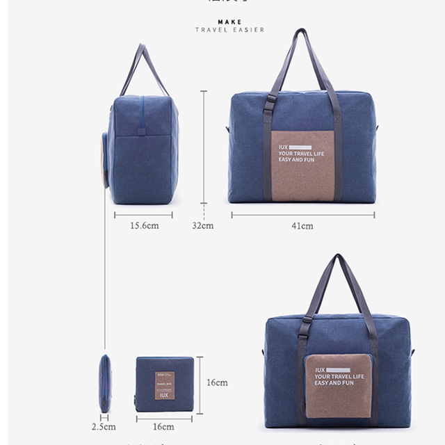 Men Travel Bags WaterProof Nylon Folding laptop Bag Large Capacity Bag luggage Travel Bags Portable women Handbags 5