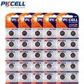 50 pcs/5 cartão pkcell 1.5 v ag13 lr44 l1154 rw82 rw42 sr1154 sp76 a76 357a botão de célula tipo moeda baterias