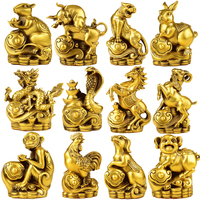 FENGSHUI Handmade Chinese Zodiac Animals Sheep Dragon Tiger Dog Rabbit Horse Monkey Pig Rooster Snake Rat Ox Collectible Statue