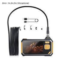 8mm 4.3 Inch LCD Color Screen 1m 3m 5m 10m Handheld inspection Snake Camera Industrial Home Endoscope with 6 LEDs