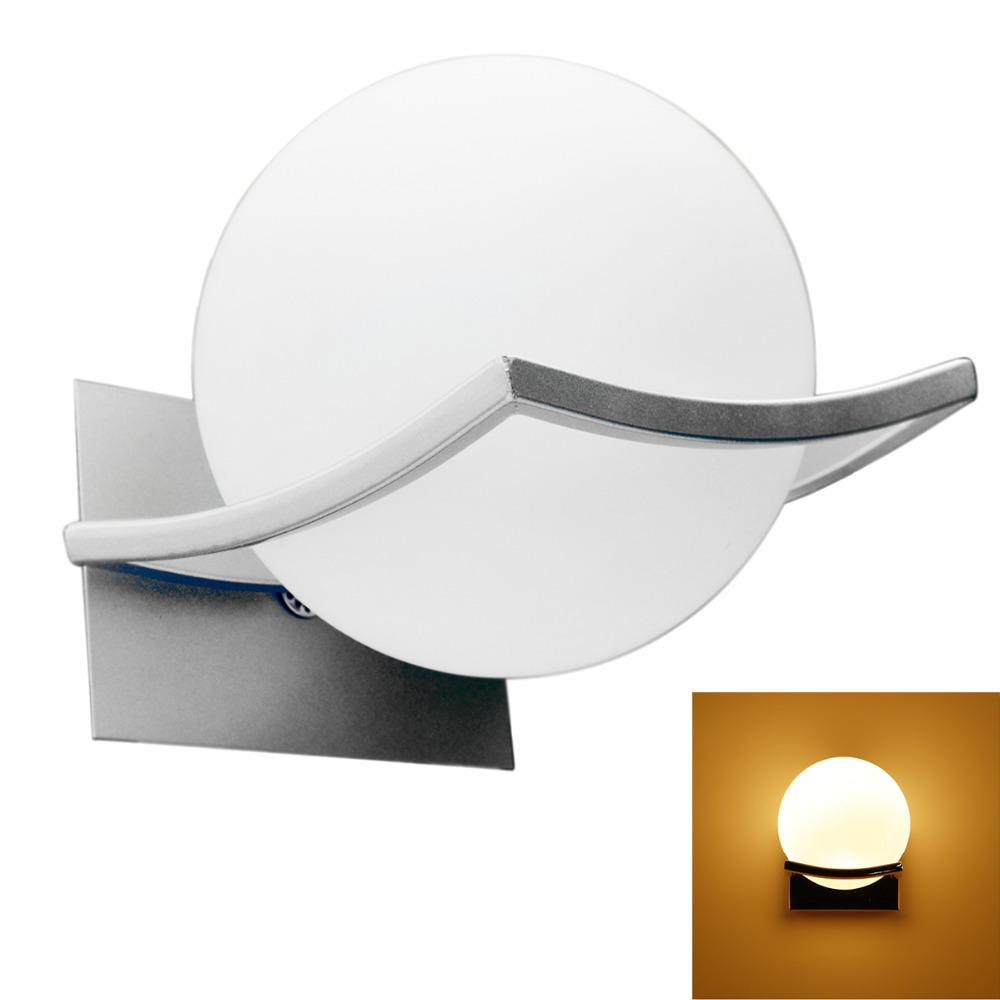 1pcs lot E27 3W LED Wall Ball Lamp Light for bedroom and living rooom AC 90