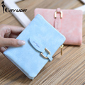 CITY LIGHT New arrival Women wallets fashion Nubuck Leather short style wallet hasp zipper ladies short purse day clutch