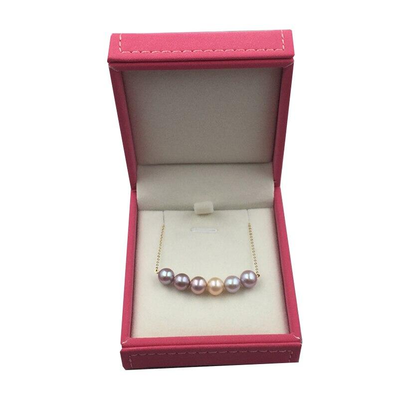100% réel 18 k AU750 or sourire chaîne clavicule perles collier pour femmes filles enfants amant mode bijoux sourire visage conception - 6