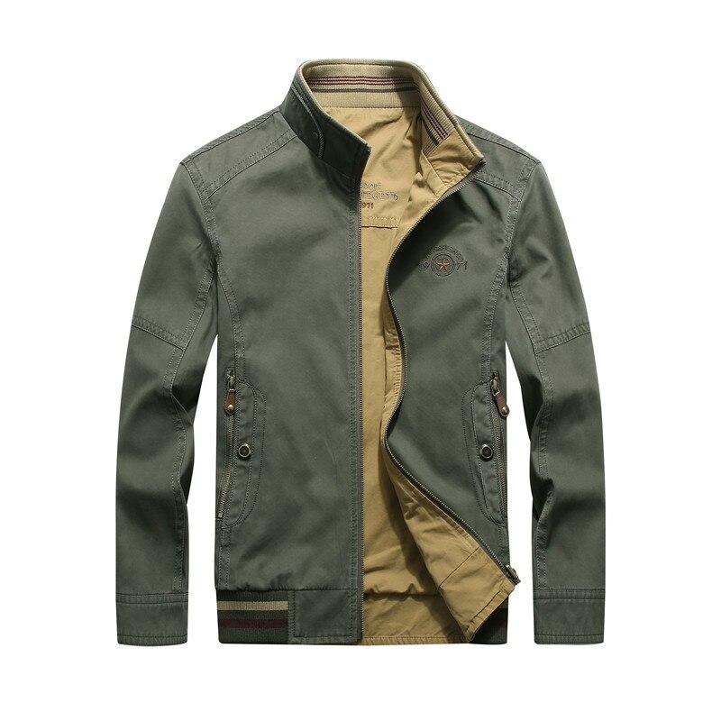 2017 nowy na co dzień i biznes mężczyźni kurtka stanąć kołnierz zamek odwracalne kurtka i płaszcz mężczyźni po obu stronach nosić jaqueta masculina w Kurtki od Odzież męska na  Grupa 1