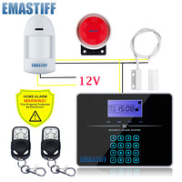 Free Shipping Wireless GSM PSTN Dual Network Alarm Systems Security Home Alarm Russian English Voice Wired