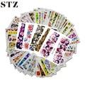 48 pcs Mixed 48 Designs Flor Nail Art Completa Dicas Wraps Foils Prego Etiqueta Da Arte Do Prego Decalques de Transferência Da Água STZ352-391