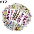 48 unids Mixtos 48 Diseños de Flores Del Arte Del Clavo Lleno Wraps Láminas de Uñas Nail Art Sticker Calcomanías de Transferencia de Agua Consejos STZ352-391