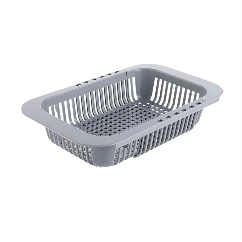 Creative Kitchen Retractable Tank Drainage Frame Drainage Basket Multifunctional Plastic Dish Rack Washing Basin Drainage Fruit in Other Fruit Vegetable Tools from Home Garden