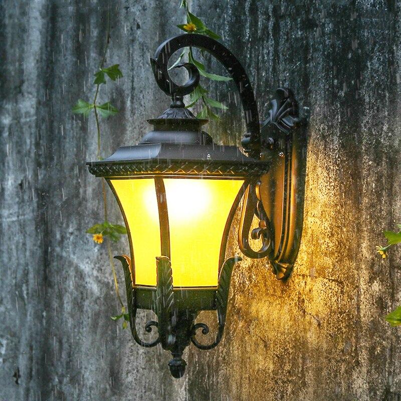 где купить Europe wall lamp outdoor villa courtyard lighting aisle balcony corridor retro porch light waterproof по лучшей цене