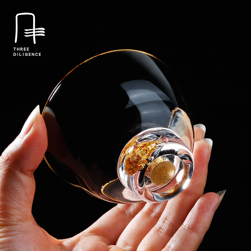 Short glasses Liquid gold wine glass tea cup Whiskey glassware tea cup wine cups pitcher bar beer steins India style Christmas