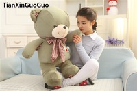 stuffed plush toy large 80cm lovely green teddy bear plush toy bear doll soft throw pillow birthday gift w2982