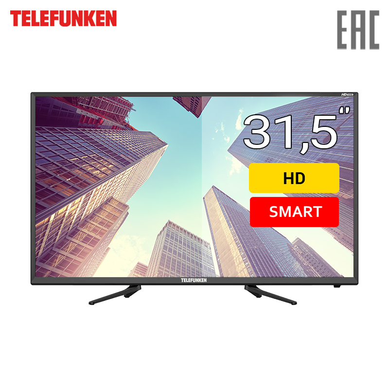 TV 31.5 Telefunken TF-LED32S82T2S HD SmartTV 3239inchTV dvb dvb-t dvb-t2 digital dvb t digital antenna