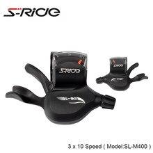 S-Passeio de Bicicleta de Montanha Alavancas Shifter Gatilho Shifters 3x10 Velocidade Ciclismo MTB Bicicleta Shifters Desviador Compatível M610 M590