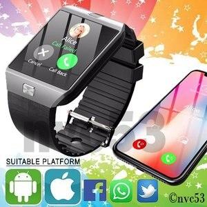 Image 3 - DZ09 Sports Gold Smart Watch LED Electronic Intelligent Wristwatch Pedometer Phone Android Wrist Watches Men Masculino Relogio