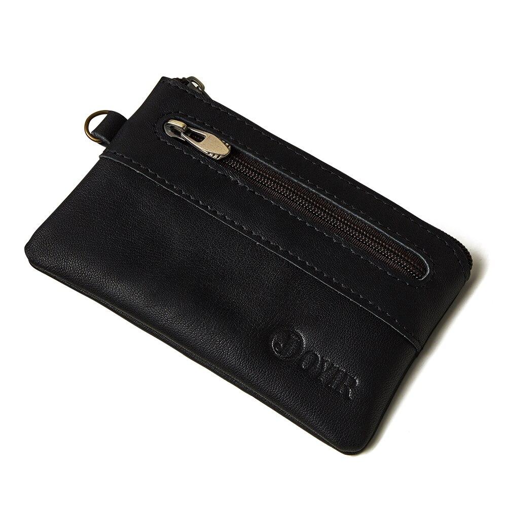 Coin Purse Men Genuine Leather Wallets Men Wallet Women Vintage Slim Zipper Short Wallets Card Holder Pouch For Cards New 1