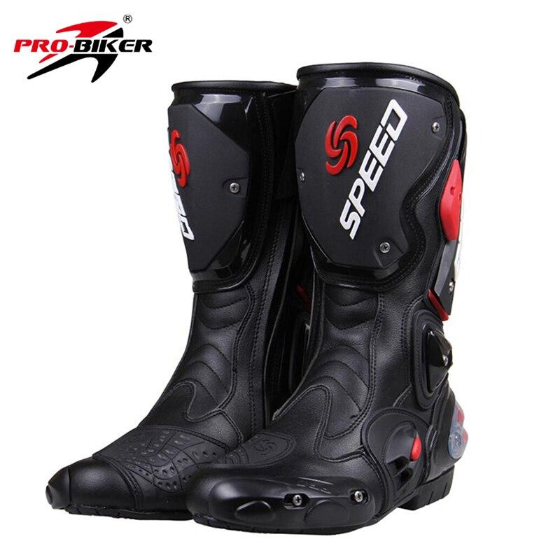 Prix pour PRO-BIKER VITESSE BIKERS Moto Bottes Moto Racing Motocross Off-Road Moto Chaussures Noir/Blanc/Rouge Taille 40/41/42/43/44/45