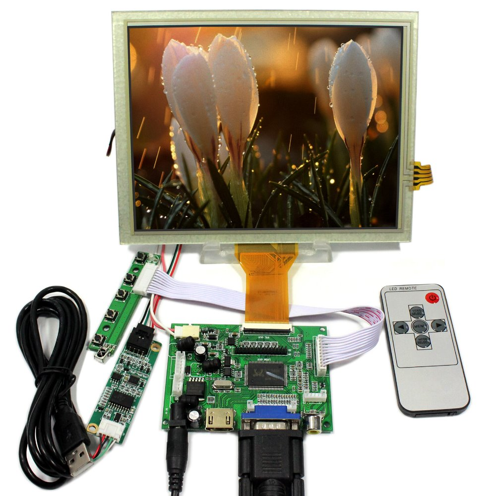 HDMI VGA 2AV LCD Contorller Board 8 EJ080NA-05A AT080TN52 800x600 Touch Screen hdmi vga 2av reversing lcd driver board work for 8inch at080tn52 ej080na 05a ej080na 05b 800 600 lcd panel