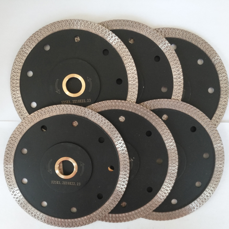 FREE Shipping RUSSIA Custome 6Pcs set 5 inch 125 mm Porcelain Diamond Saw Blade for ceramic