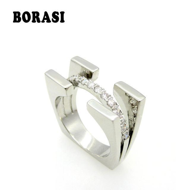 Fashion Jewelry Silver Ring For Women Cubic Zirconia Stone Ladies Ring 925 Sterl