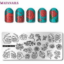 1pc Rectangle Nail Stamping Plates Rose Flower Pattern Nail Art Stamp Stamping Template Image Plate Stencil Nails Tool 6*12cm цепная пила makita uc3041a