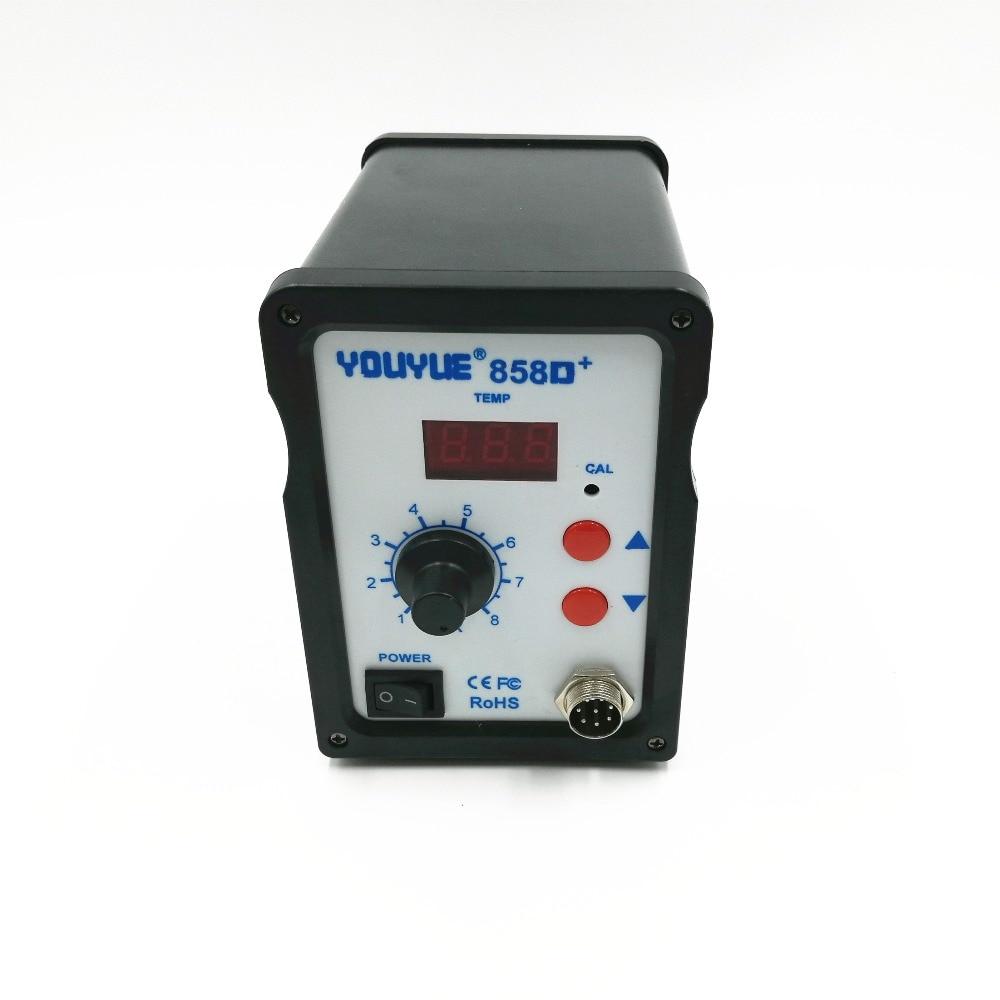 700 вт youyue 858d не фена + оур паяльная станция сварки фена для BGA паяльная станция с 6 насадок + 3 пинцет