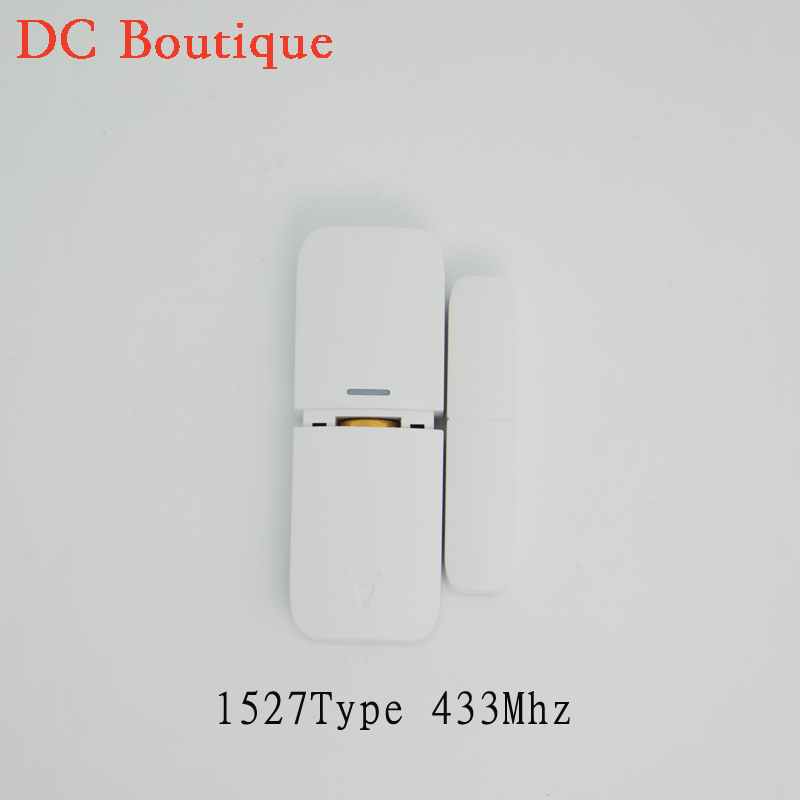(1 pairs)  Wireless Magnetic Sensor 1527 433MHz Door Window open Detector For GSM Alarm system anti-burglar Without battery wireless door window detector sensor for alarm system detect door windows drawer illegally open and close window magnetic 2pcs