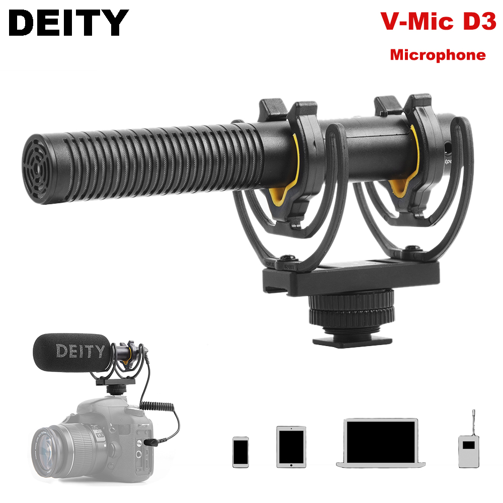 Deity V-Mic D3 Audio Video Super Cardioid Condenser Microphone On-Camera Recording Mic for DSLR DV Camcorders Camera SmartphoneDeity V-Mic D3 Audio Video Super Cardioid Condenser Microphone On-Camera Recording Mic for DSLR DV Camcorders Camera Smartphone