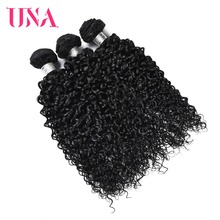 UNA Brazilian Water Wave Bundles 100% Human Hair 1 PC 8-26inches Non Remy Weave Extensions Can Buy 3 Or 4