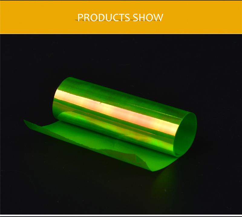 6 colores/Set holográfico papel pegatinas para Nail Art Wraps ...