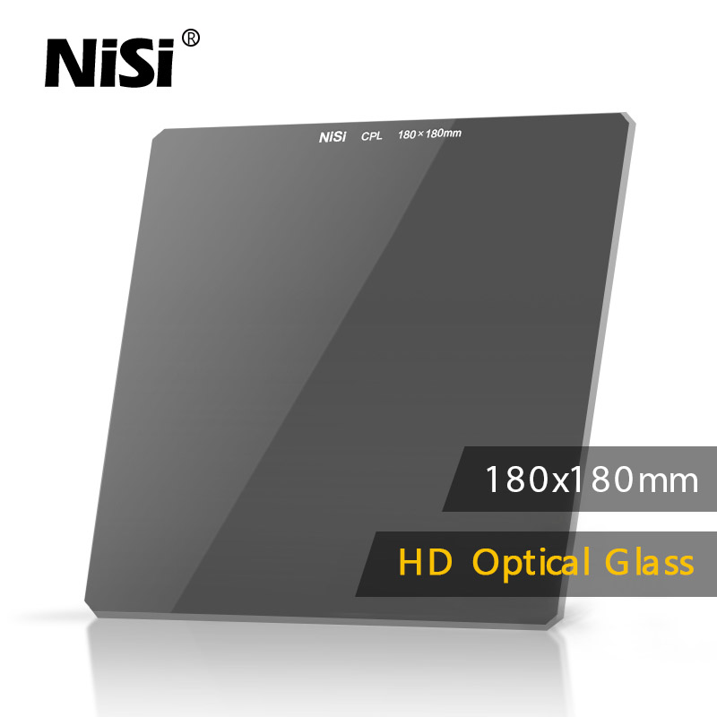 NiSi 180*180mm Square Inserting Disk Polarizing HD CPL lens Filter Optical Glass for Lens of Digital DSLR Camera cpl circular polarizing lens filter 58mm